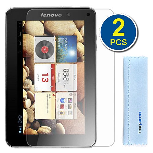 Gtmax 2-Pack Premium Hd Guard Film Clear Lcd Screen Protectors For Lenovo Ideatab A2107 7-Inch Android Tablet Microfiber Cloth
