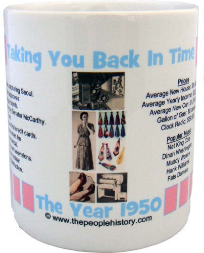 1950 Coffee Mug Featuring -1950 Year In History (Pink)