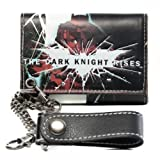 DC Comics BATMAN The Dark Knight Rises Tri-Fold WALLET w/ Chain
