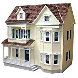 Real Good Toys Real Good Toys Front-Opening Country Victorian Dollhouse Kit - 1 Inch Scale, Brown, Medium Density Fiberboard