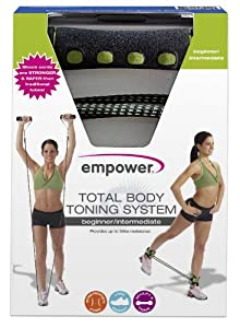 Empower Deluxe Total Body Beginner/Intermediate Toning System, Black/Green