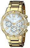 GUESS Yellow Gold-Tone Crystal Sport Chronograph U0141L2