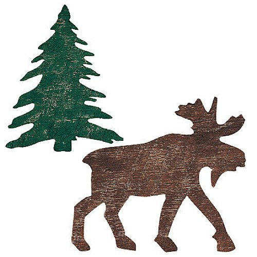 Wallies 12137 Moose and Trees Wallpaper Cutout