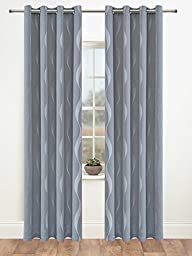 Facebook Store Window Treatments Thermal Insulated Ripple Grommet Blackout Curtains (W52\