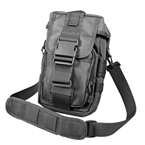 Rothco 8320 Flexipack MOLLE Tactical Pouch, Shoulder Bag, Black