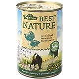 Dehner Best Nature Katzenfutter Adult Geflügelherzen und Kaninchen, 6 x 400 g (2.4 kg)