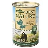 Dehner Best Nature Katzenfutter Geflügelherzen und Kaninchen, 6x400g, 1er Pack (1 x 2.4 kg)