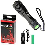 UltraFire® 600 Lumen Handheld Flashlight Led Cree Xml- T6 Water Resistant Camping Torch Adjustable Focus Zoom Tactical Light Lamp for Outdoor Sports,powered By 1pcs 18650 or 3pcs AAA Battery (Not Included)