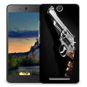 Snoogg Pistol Gun Designer Protective Back Case Cover For MICROMAX CANVAS JUICE 3 Q392