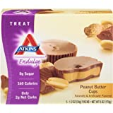 Atkins  Endulge Peanut Butter Cup, 5 Count, 1.2oz  Cups (Pack of 6)