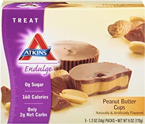 Atkins Endulge Treats, Peanut Butter Cup, 5 Count, 1.2oz Cups