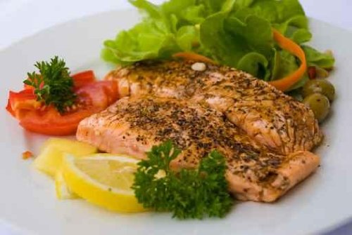 Gourmet-grilled Salmon-topped with Herbs-2- - 72