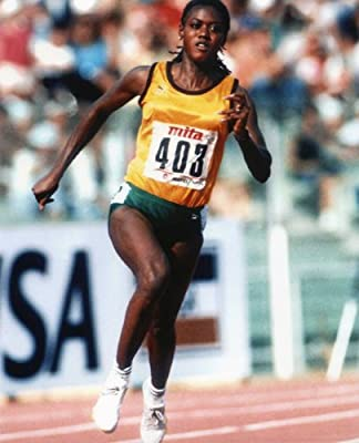 MERLENE OTTEY JAMAICAN OLYMPIC SPRINTER 8X10 SPORTS ACTION PHOTO (S)