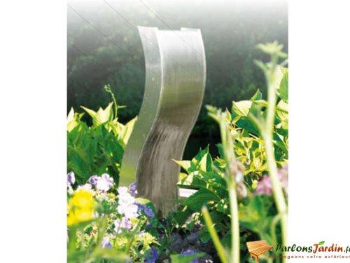 Fontaine de jardin en inox Fermo