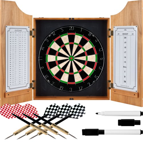 Buy TG Beveled Wood Dart Cabinet - Pro Style Board and Darts
