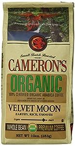 Cameron's Organic Whole Bean Coffee, Velvet Moon Espresso Roast, 10-Ounce