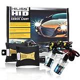HILISS 55W HID Xenon Slim Light Ampoules Conversion Kit Headlamp Headlight Ballast Single Beam H1-H/L H3-H/L H7-H/L H8-H/L H9-H/L H10-H/L H11-H/L 9005-HB3 9006-HB4 880 881(H11-H/L,5000K)
