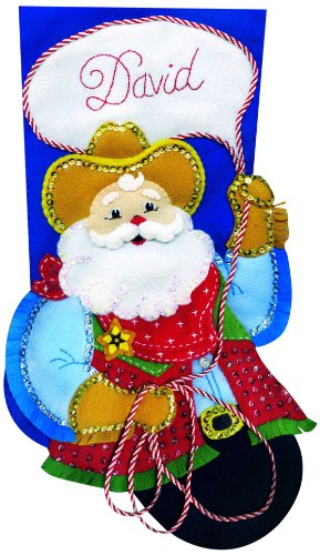 Cow-Boy Santa Jersey Applique feutre Kit-18