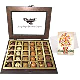 Chocholik Luxury Chocolates - Mouthful Treat Of Assorted Chocolates With Birthday Card