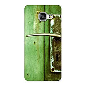 Stylish Classic Door Green Back Case Cover for Galaxy A3 2016
