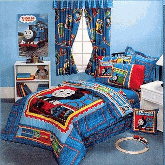 Thomas Full Steam Ahead twin size bedding - comforter & sheet set