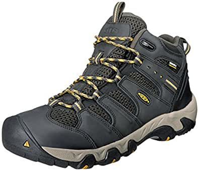 KEEN Men's Koven Mid WP Hiking Boot,Raven/Tawny Olive,7 M US
