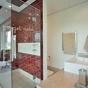 Bathroom decor get naked wall decal vinyl art sticker for Bathroom art amazon