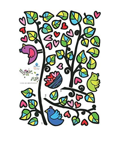Ambiance Live Vinilo Decorativo Birds On Tree And Hearts