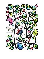 Ambiance Sticker Vinilo Decorativo Birds On Tree And Hearts