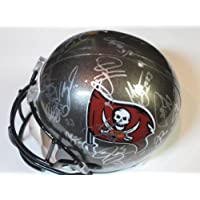 2012 Tampa Bay Buccaneers Team Signed Autographed Full Size Replica Helmet Doug Martin , Josh Freeman , Vincent Jackson Plus Many More Authentic Certified Coa