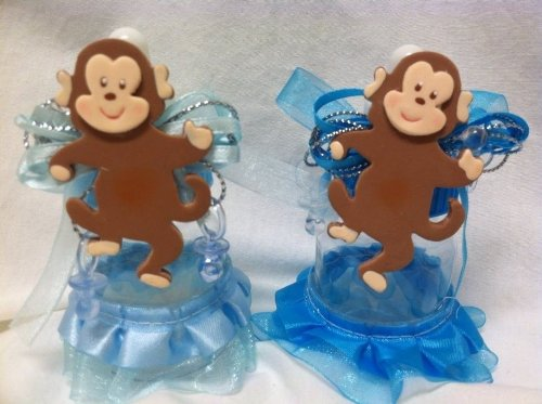5 Monkey Jungle Baby Bottle Favors Baby Shower Birthday Gift