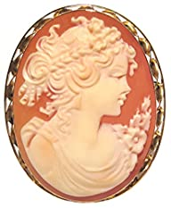 Summer Dream, Cameo Pin Pendant Carne…