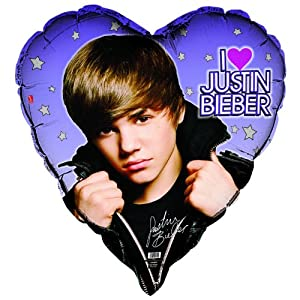 Amazon.com: Unique 205296 Justin Bieber Heart Shaped Foil Balloon