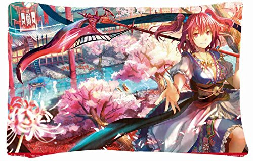 Queen Size Microfiber Peach Decorative Pillowcases -Nature Landscapes Water Landscapes Touhou Cherry Blossoms Trees Colorful Grim Reaper Scythe Redheads Ships Sakura Weap Nature Landscapes front-826318