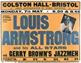 LOUIS ARMSTRONG COLSTON HALL THEATRE BRISTOL REPRODUCTION POSTER 16X12