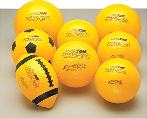 Sportime Super-Safe Roto-Molded Seamless Youth Football - Yellow and Black - 1
