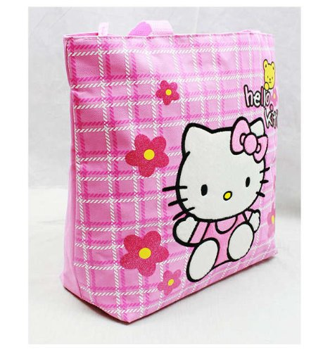 Sanrio Hello Kitty Pink Tote Bag with Yellow Bear - 1