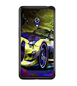 PrintDhaba Car D-3271 Back Case Cover for ASUS ZENFONE 5 A501CG (Multi-Coloured)