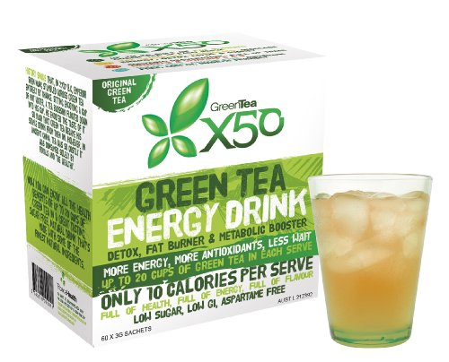 Green Tea X50 - Extract organic supplement powder for weight loss diet and bodybuilding - Decaffeinated fat burner liquid drink (EGCG) not vitamin pills or capsules - dietary supplement mixed with cold or hot water - 3 great variety of flavors - Mixed Flavors