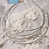 10x Silver Tone Wire Embryo for Bead Headband Hair Hairband Find Make DIY Tool