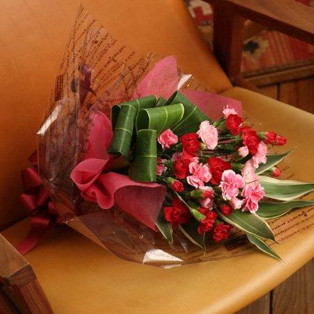 【母の日】カーネーション 花束 「ハッピーマム」 (5/7~5/10のお届け)