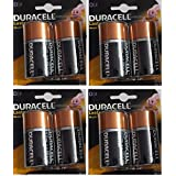 Duracell Alkaline Battery D2 Pack Of 4 (8 Cell)