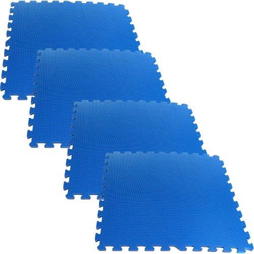 Trademark Tools 75-6401 Hawk Ultimate Comfort Blue Foam Flooring, 16-Square Feet