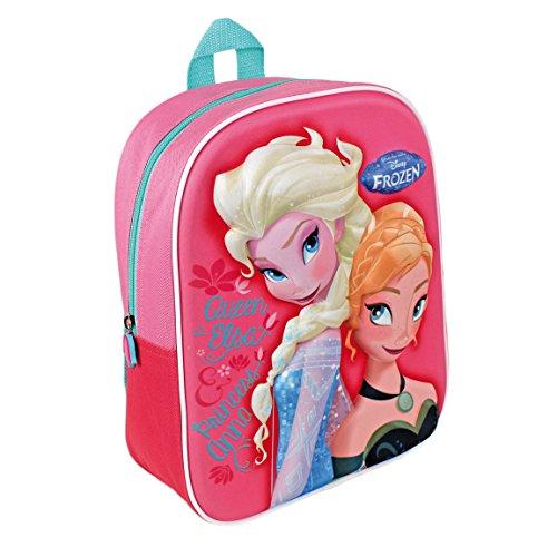 Disney Frozen Zaino Asilo E Tempo Libero 3D Elsa E Anna Novita'