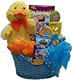 Delight Expressions Lucky Ducky chocolate and Candy Easter Gift Basket - For Boys