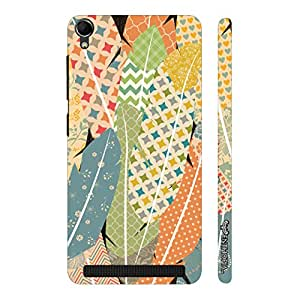 Enthopia Designer Hardshell Case Prints on Feathers Back Cover for Intex Aqua Power Plus