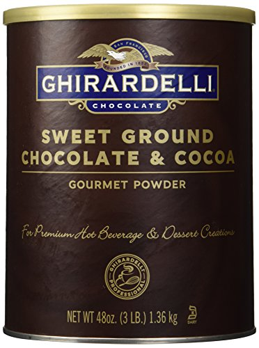 Ghirardelli Chocolate Sweet Ground Chocolate & Cocoa Beverage Mix, 48-Ounce Canister (Milk Powder Made In Usa compare prices)