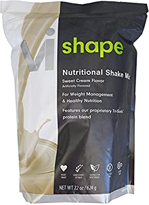 ViSalus VI-Shape Nutritional Shake Mix Sweet Cream Flavor 22oz [1 Bag, 24 meals]