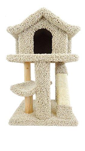 New Cat Condos Premier Mini Cat Pagoda House, Beige