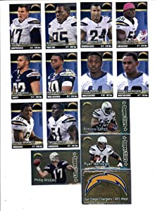 2012 Panini NFL Football Stickers San Diego Chargers Team Set (14 Stickers) -...